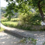 次郎丸岳登山口手前の細い農道に入るところの画像