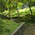 チャペルの鐘展望公園の石段の画像