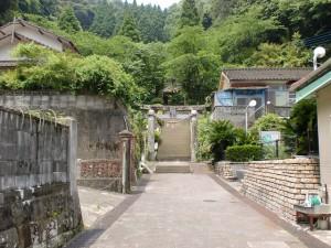 チャペルの鐘展望公園の入口の参道の画像