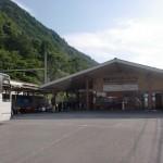 新島々バスターミナルと松本電鉄新島々駅の画像