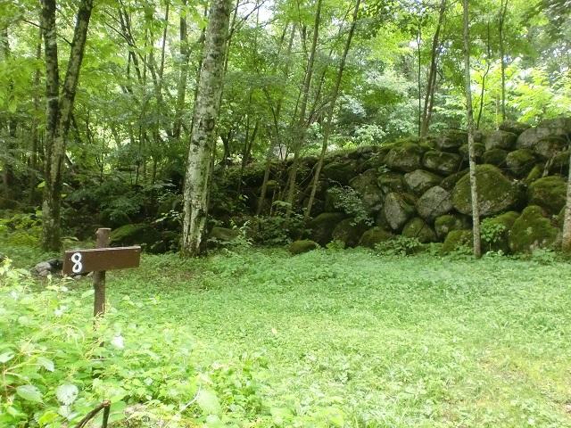 青木鉱泉のテントサイト