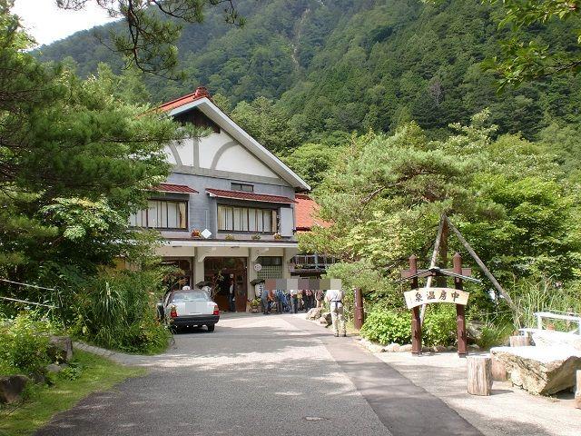 燕岳の登山口 中房温泉へのアクセス(穂高からバス)※名古屋発