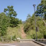 福万山登山道入口の画像