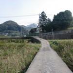 津波戸山登山口手前の細い橋の画像
