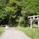 尺間神社鳥居(平家山登山口)の画像