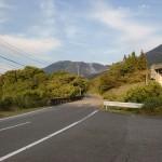 高速由布岳バス停から県道616号線に出たところの画像