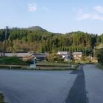 宇目小国大規模林道入口手前のT字路の画像