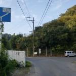 県道6号線からトトロの森への分岐地点の画像