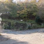 女郎の墓の手前の林道分岐の画像