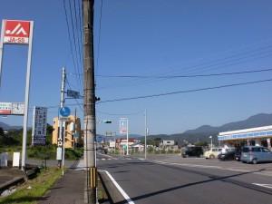 国道210号線沿いの大龍交差点の画像