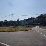 国道442号線から県道26号線に入るT字路の画像