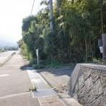 県道31号線から鷲巣岳登山口に続く林道の入口の画像