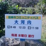 大河内バス停(国東市コミュニティバス)の時刻表の画像