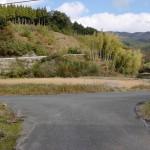 三瀬車庫前から山中キャンプ場に至る途中の2番目のT字路※右に行くと吉野山キャンプ場の画像