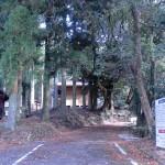 山中キャンプ場のゲート付近の画像