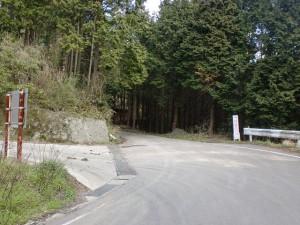 林道岸川支線と林道袖山線の合流地点の画像