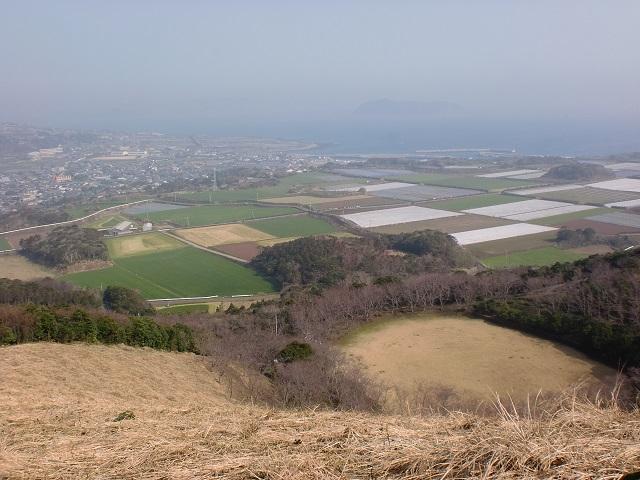 箕岳山頂付近からの眺望の画像