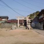 姫島神社の参道入口(一の鳥居)の画像