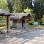 御岳公園(御嶽公園)の駐車場とトイレの画像
