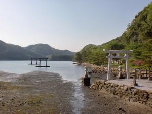 和多都美神社の鳥居(対馬)の画像
