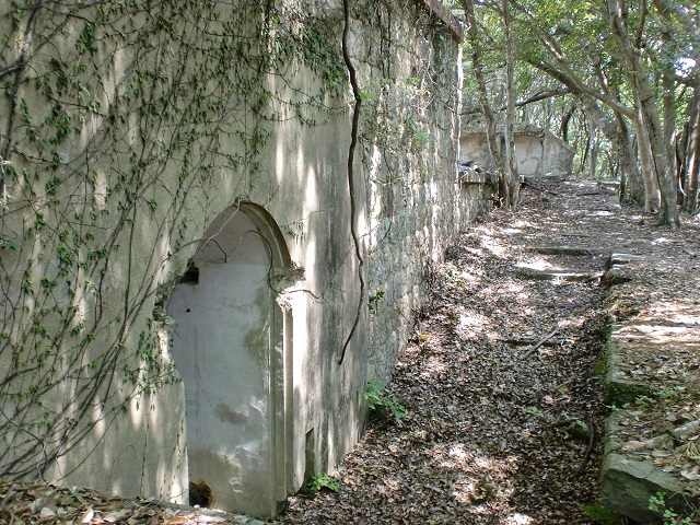 城山砲台・城山付属堡塁の登山口 城山登山口にアクセスする方法