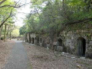 上見坂堡塁の兵舎跡の画像