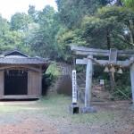 矢筈岳の祇園神社駐車場登山口の画像