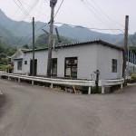 念珠岳登山口に至る林道の分岐地点の画像