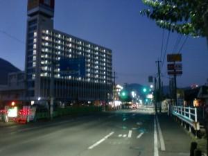 JR小森江駅前の国道3号線の画像