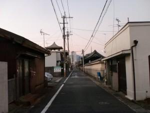 長崎街道(大里宿・西生寺前付近)の画像