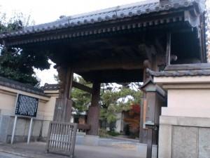 西生寺(長崎街道・大里宿)正門前の画像