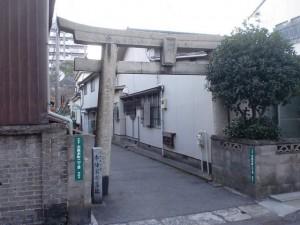 大里宿の祇園社・猿田彦大神の鳥居(長崎街道・大里宿)の画像
