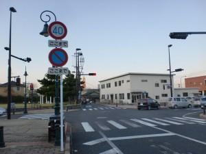 門司駅裏手のミニストップ裏の交差点の画像
