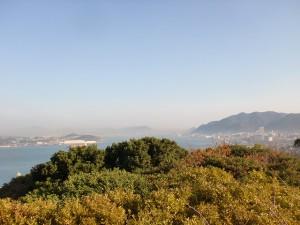 手向山山頂から関門海峡方面の眺望の画像