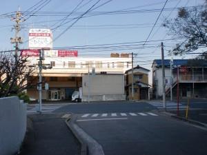 手向山公園入口の信号の画像