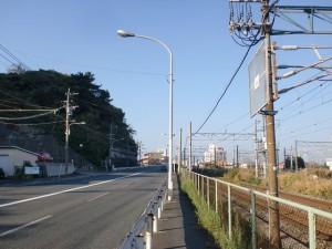 手向山入口近くの国道3号線の画像