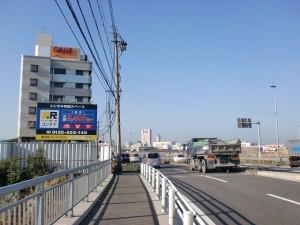 長崎街道の高浜橋近くの国道199号線の画像