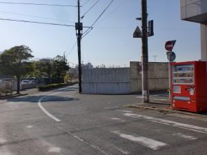 国道199号線の末広町交差点を左折し長崎街道に入る地点の交差点の画像