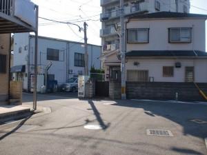長崎街道小倉城下の閻魔堂から庚申塔に行く途中のT字路の画像