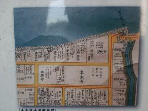 小倉城下の門司口橋周辺の古地図の画像