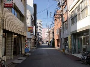 小倉駅前のコレット東側の長崎街道の画像