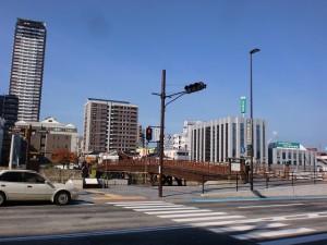 小倉中央商店街出口付近から見る常盤橋の画像