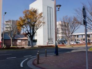常盤橋から長崎街道を通り西小倉駅前に出るところの画像