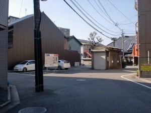安国寺前の長崎街道左折地点の画像