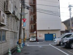 安国寺前の長崎街道左折地点の先の右折地点の画像