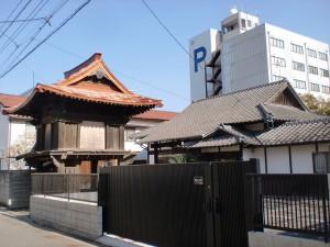 長崎街道小倉城下の心光寺前の画像