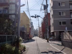 長崎街道小倉城下の心光寺の先で県道63号線をまたいだ先の交差点