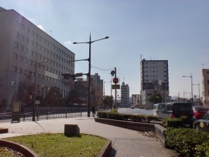 小倉地方裁判所前の金田交差点の画像