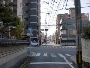 長崎街道小倉城下の龍善寺横の交差点の画像