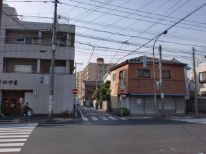 長崎街道小倉城下の清水小学校先の交差点の画像